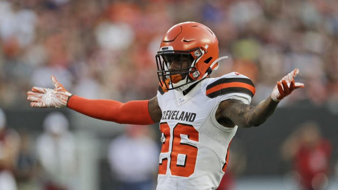 The Browns will be without cornerback Greedy WIlliams on Sunday due to a shoulder problem.