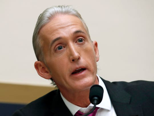 In this Nov. 14, 2017 file photo, Rep. Trey Gowdy,