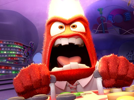 "Provided/Pixar Anger (voice of Lewis Black) loses his cool in ""Inside Out."" INSIDE OUT â?? Pictured: Anger. ©2015 Disneyâ?¢Pixar. All Rights Reserved."