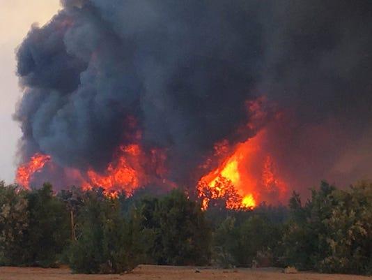 AP COLORADO RIVER-WILDFIRE A USA CA