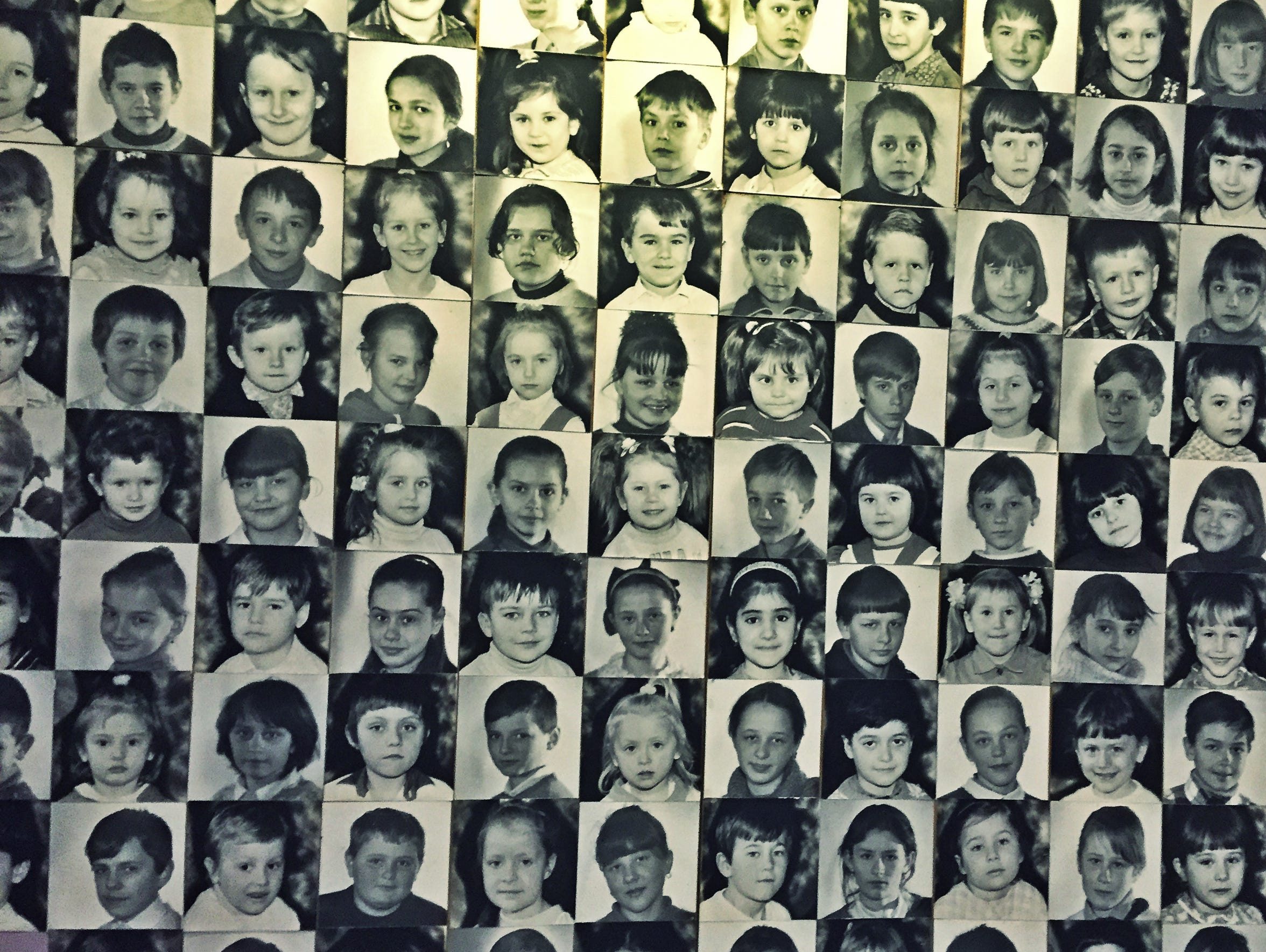 Some of the children who died in the nuclear accident.