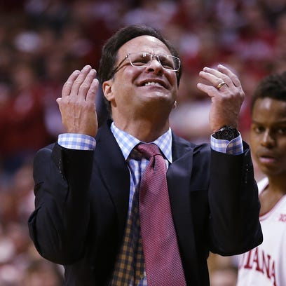 What is the fate of Indiana coach Tom Crean, shown