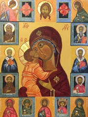 Mary Sullivan spent many hours writing icons - depictions of saints involving moments of prayer.
