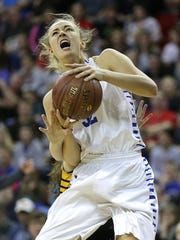 Assumption Gena Grundhoffer was named to the WBCA Division 5 all-state team for the third time in her high school career.