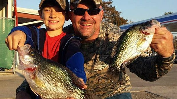 Speckled perch, also known as specks, crappie and black crappie, have been biting good, but could be biting better, if it would just cool down a bit.