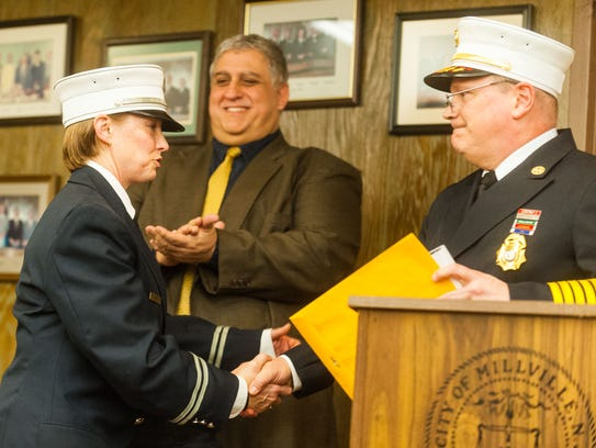 Millville Fire Captain Christine Tonetta is honored