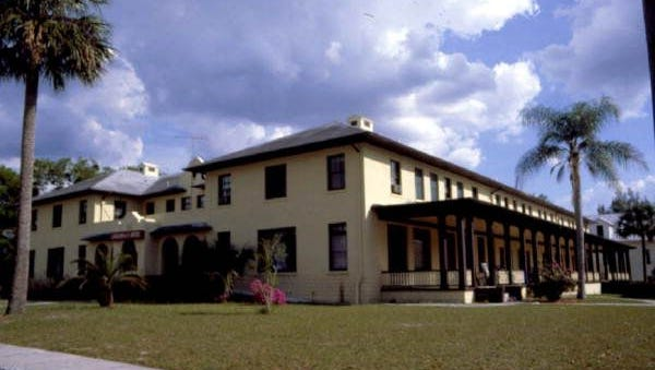 The Cassadaga Hotel, built in 1927, is at the entrance to the Spiritualist community located in west Voluisia County. Spiritualists believe in direct communication with those who have passed into the Spirit World.