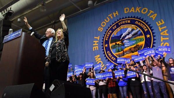 Bernie Sanders speaking in Sioux Falls