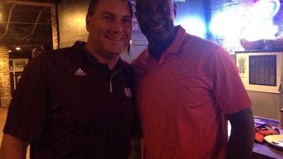 Jerry Rice attended MSU coach Dan Mullen's radio show last week.