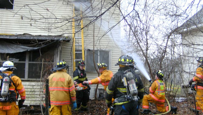 The Hillside Fire Department responded to a house fire Sunday morning in Rhinebeck.