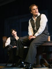 "Michael Shannon (right) received a Tony nomination for ""Long Day's Journey Into Night."" He is shown in a scene with John Gallagher Jr."