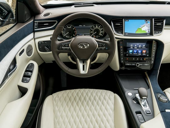 The QX50's interior impresses with its spaciousness