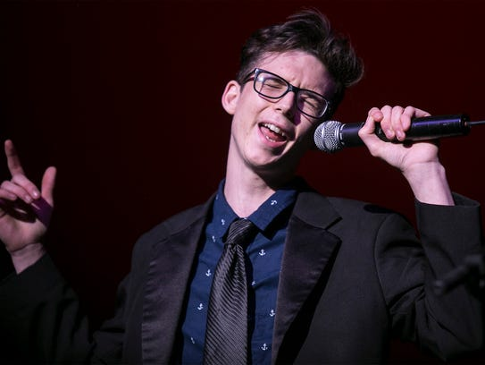 Leon Zellers, 17, of Dover, performs live at the YorVoice