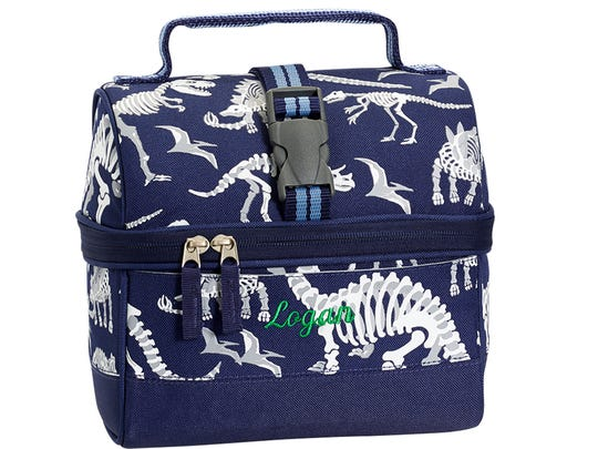 Glow-in-the-dark dinos that make for a fun lunch box from Pottery Barn Kids.