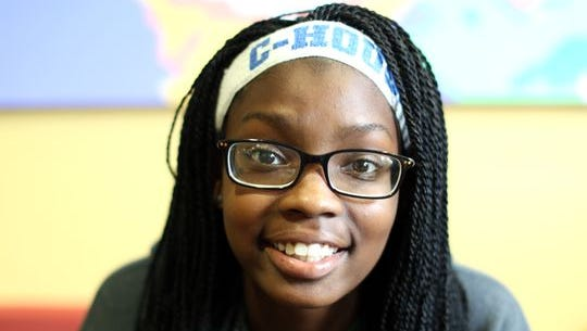 Nayla Armstrong, a student at Clark Montessori