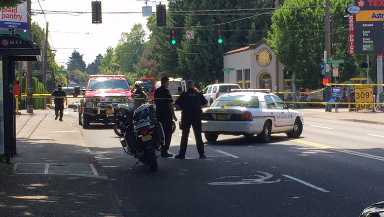 Police closed the intersection after the crash.