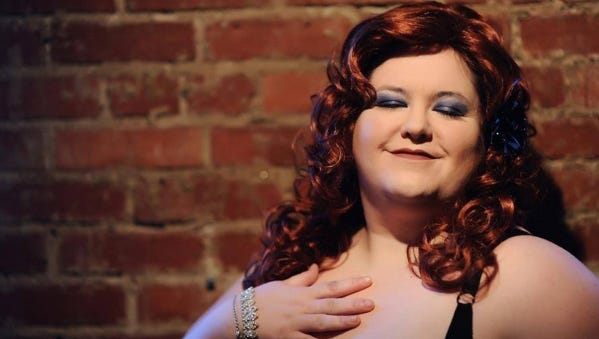 "Anna Rogers performs comedy, music and dance as ""Moxie Easton."""