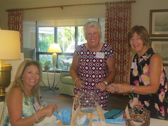 Elaine Matts, left, Shirley MacDonald, and Zenta Barger