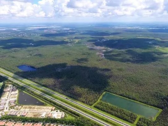 The 3,922 acre Edison Farms property adjacent to Interstate