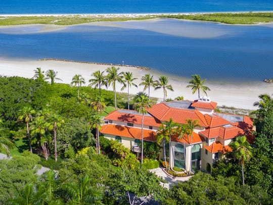 Aerial view of 188 S. Beach Drive. The mansion sold for $7 million on Oct. 23, 2017.