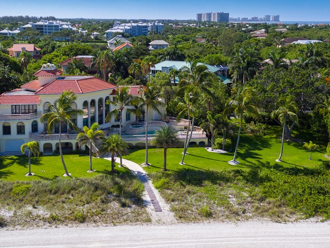 Aerial view of 188 S. Beach Drive, which sold for $7