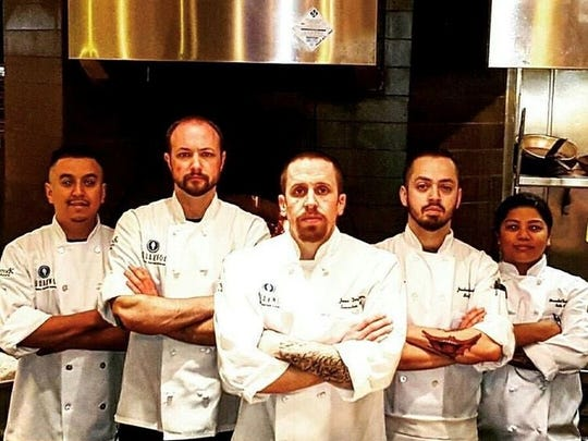 Guam native Mercedes Taimanglo (far right) represents her home island at AquaKnox, a fine dining restaurant at the Venetian in Las Vegas.