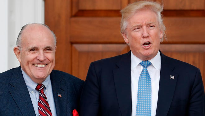 President Trump and Rudy Giuliani in 2016 photo.