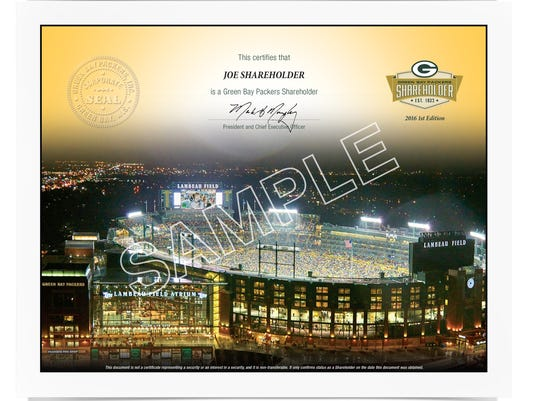Packers shareholder collectible