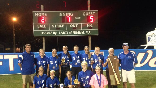 The Madison 16 and under softball team won the Babe Ruth World Series on Monday in Pittsfield, Mass.