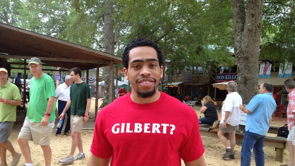 Secretary of State Delbert Hosemann supporters at the Neshoba County Fair this week wore 'Gilbert' shirts, continuing the play on his name he's used in past campaign ads.