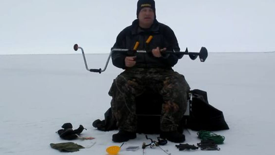Greg karch recommends basic ice fishing gear for Basic fishing gear