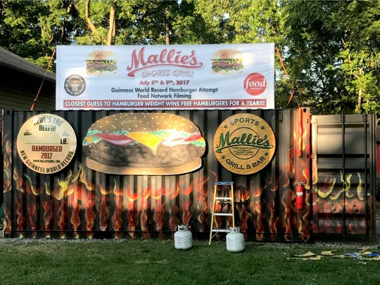 Mallies Sports Grill and Bar in Southgate will attempt to make a 1,200 pound burger on Sunday July 9. .