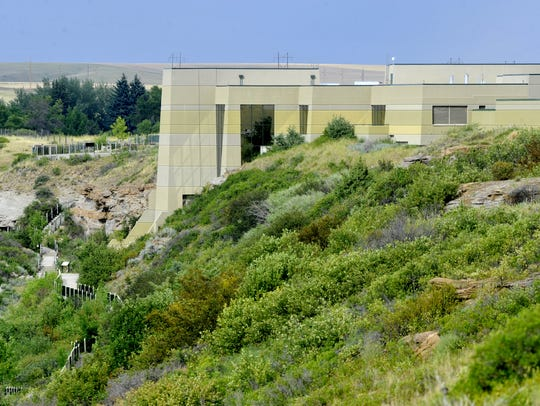 The Lewis and Clark Interpretive Center is built into