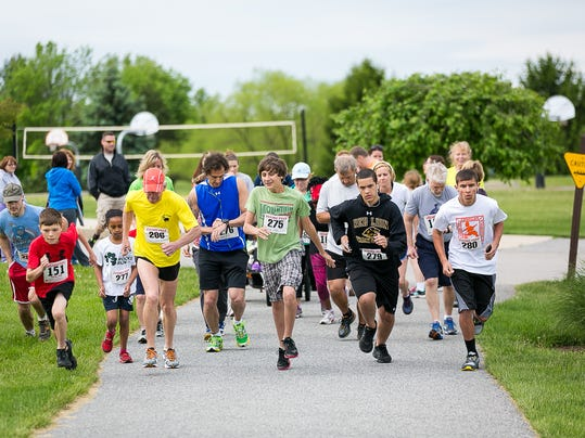 Running for a purpose at the annual Human Life Services 5k run.