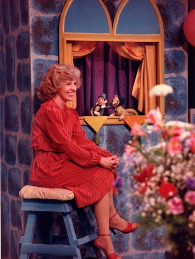 """""""??Aunt Norma"""" Champion, pictured in the 1960s while hosting the popular """"The Children's Hour?"""" program that aired on KYTV from 1957 until the end of the show in 1986."""