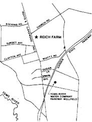 Map shows Reich Farm location.