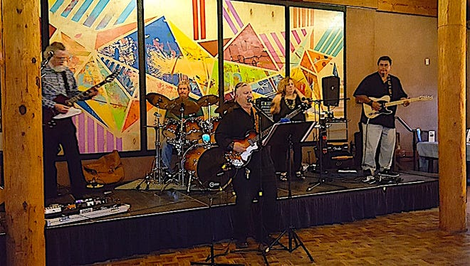 The High Desert Blues Band travels the state performing for kids in detention centers for the Freedom in Music Project. The band, from left to right, is Tom Brown, Tim Lodge, Phil & Linda Oliveira, and Tony Martinez. The band also will perform for a fundraiser for their outreach ministry Saturday night at Crash Music in Aztec.