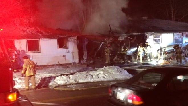 Fire crews respond Sunday night to a duplex at 1373-1379 Mather St
