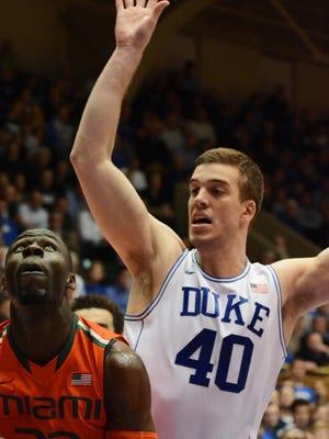 Duke Blue Devils center Marshall Plumlee.