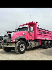 Braco Inc.'s pink dump truck will be on display with