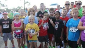 Croton Elementary students formed a running club in preparation for the Take Stock in Children 5K.