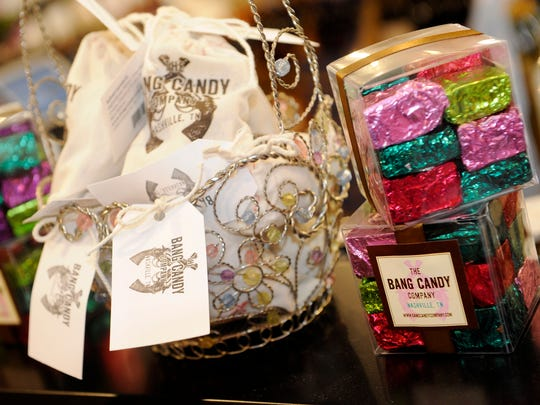 West Meade Wine and Liquor Mart on July 1, 2014, will begin to sell items from Nashville's The Bang Candy Company as well as other local offerings.