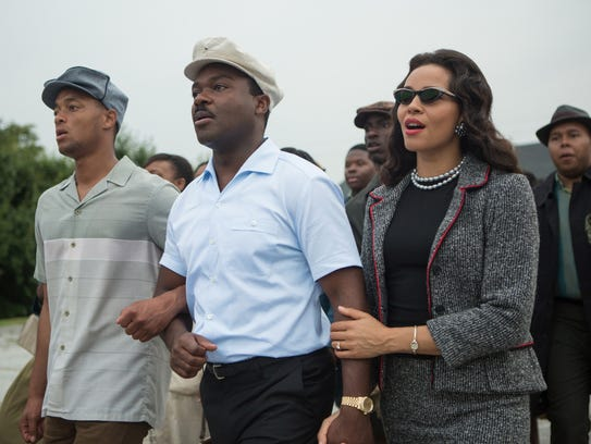 David Oyelowo, center, as Martin Luther King Jr., and