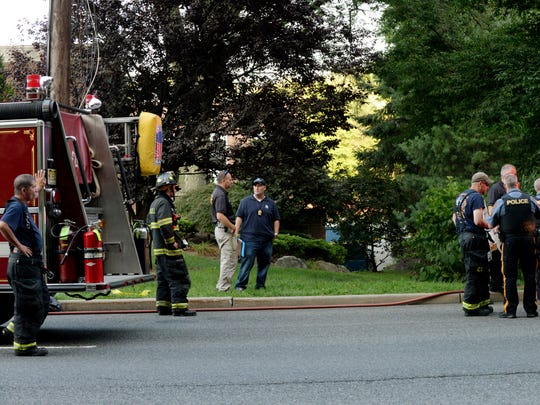 A body was found off Kinderkamack Road in Oradell on Thursday August 24, 2017. Bergen County Sheriff Officers, Oradell Police Officers and Oradell Fire fighters at the scene.