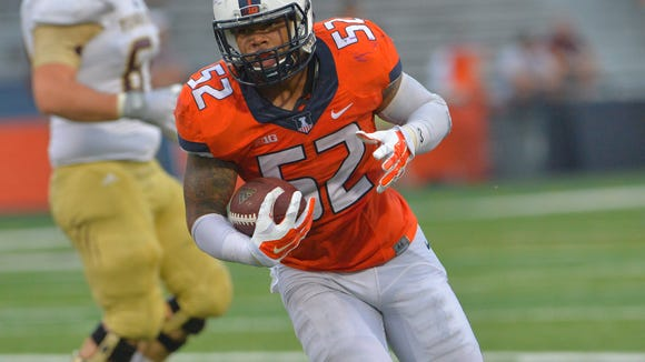 TJ Neal was second on the Illinois roster with 109 tackles in the 2015 season. Neal announced his transfer to Auburn Tuesday morning. He is expected to compete for the starting middle linebacker job.