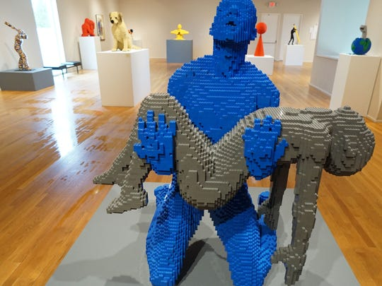 The Nathan Sawaya exhibition titled The Art of the Brick will be on display at the Mansfield Art Center from May 7 to August 27, 2016.