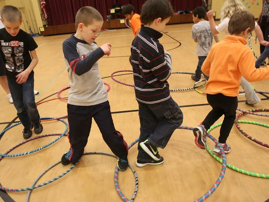 gym class hula hoop
