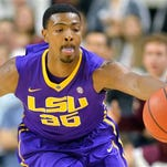 LSU's Jordan Mickey (25) may not be 100 percent for Saturday's game at Arkansas.