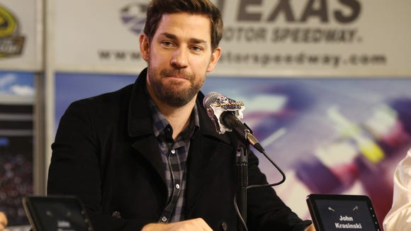 """John Krasinski went to the private workout setup Dwayne Johnson takes on the road, and, """"It was like alien spaceships had landed."""""""