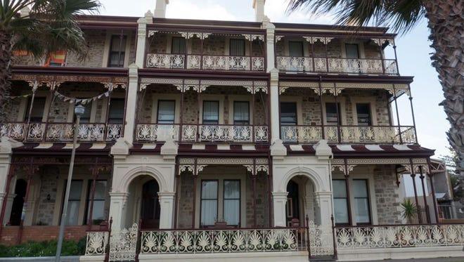 """Adelaide lace"" adorns buildings."